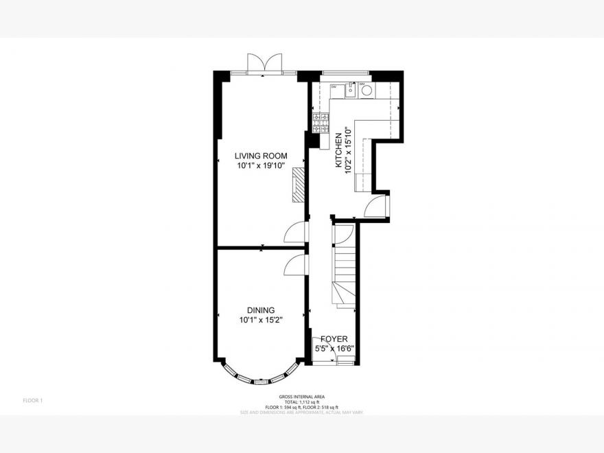 3 Bedroom Semi-detached House For Sale - Floor Plan