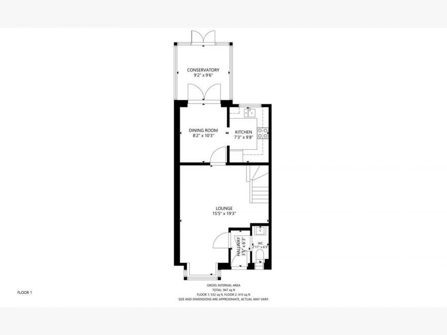 3 Bedroom End Terraced House For Sale - Floor Plan